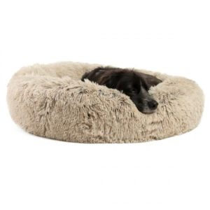 Best Friends by Sheri Calming Shag Vegan Fur Donut Cuddler for dogs with anxiety